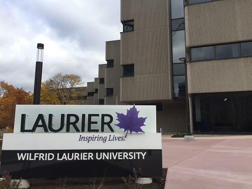 Laurier University sign